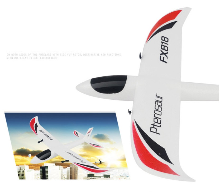 High Quality 48cm EPP FX818 RC Drone with Fixed wing glider 2.4G 4CH 200M fly time 25-40min anti-fall RC plane aircraft 2017 new big fixed wing rc glider fx818 2 4g 4ch 48cm up to 200m epp material 25 40min anti fall rc plane aircraft toy vs f939
