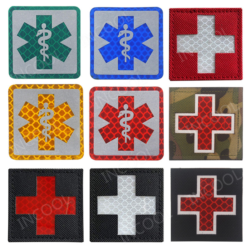 Entertainment Memorabilia Original 3d Medic Red Cross Patch Reflective Emt Ir Patches Military Tactical Morale Patch Rubber Biker Fastener Pvc Glow In Dark Badges Music Memorabilia