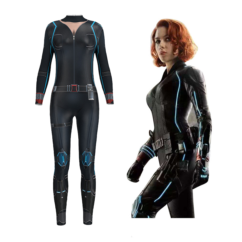 Marvel Avengers Black Widow Cosplay Siamese Tights Cosplay Costume Halloween Customized Anime 3D Tights Halloween Boocre Widow