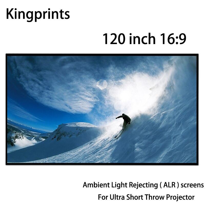 Mince Lunette 120 16:9 Fixe Cadre Écrans De Projection Lumière Ambiante Rejetant ALR Écran Pour Xiaomi Ultra Courte Portée Projecteur