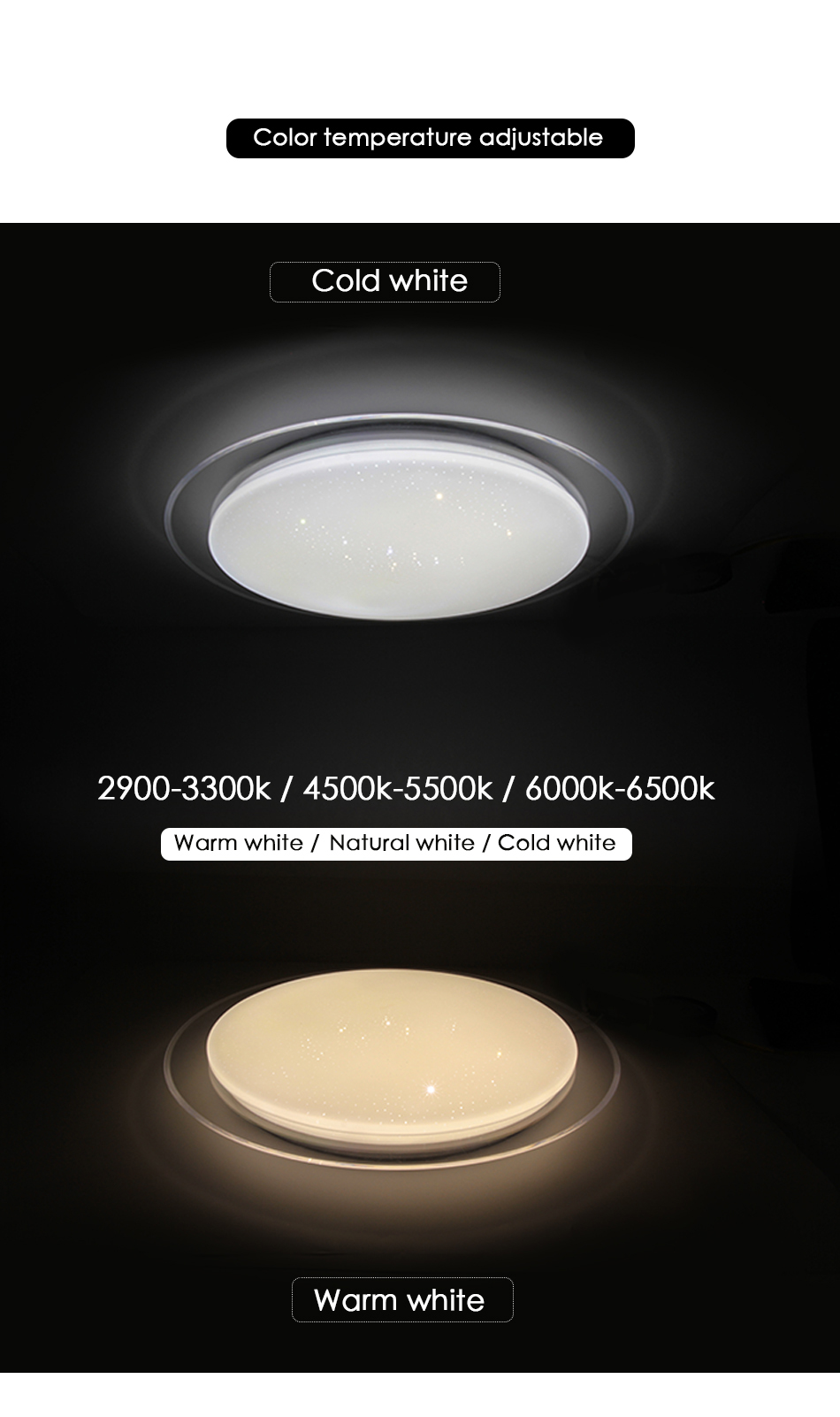 Modern LED Ceiling Light Bluetooth Music RGB Dimmable Lamp 36W 40W APP Remote Control AC 220V 240V Colourful Party Bedroom