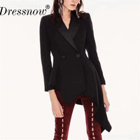 Top QualitySolid Jackets for Women Black Long Sleeve Asymmetric Length Summer Coats for Women Casual Party Jackets