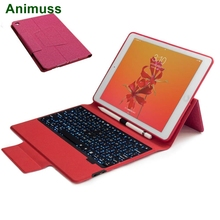 FOR iPad 9.7 inch 2018 2017 Keyboard Case, Slim 7 Colors Backlit Shell Stand Bluetooth Leather Smart Lightweight Cover