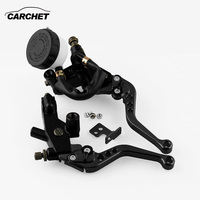 CARCHET 1 Pair Motor Hand Brakes Horn Clutch Motorcycle Scooter Hydraulic Clutch Handbrake Motorcycle Accessories Univerlsal