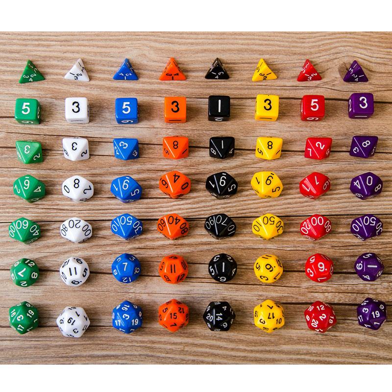 hotnewest unidset dados creativo conjunto de alta calidad dados de mltiples caras juegos divertidos juguetes para nios