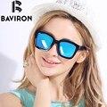 BAVIRON TR90 Гибкая Аутентичные Квадратные Солнцезащитные Очки для Женщины Смелые Стильный Поляризованные Очки Человек Случайный Наряды UV400 Sunwear 2002