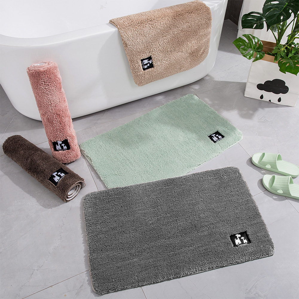 Cotton Fiber Bath Mat Super Absorbent Bathroom Carpets Rugs Bathtub Floor Mat Doormat For Shower Room