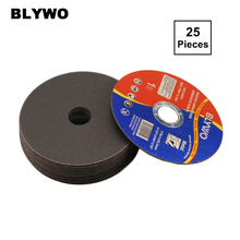 25 Pieces 115mm Diameter Metal Cutting Discs 4.5inch Cut Off Wheel Fiber Reinforced Resin Blade for Angle Grinder