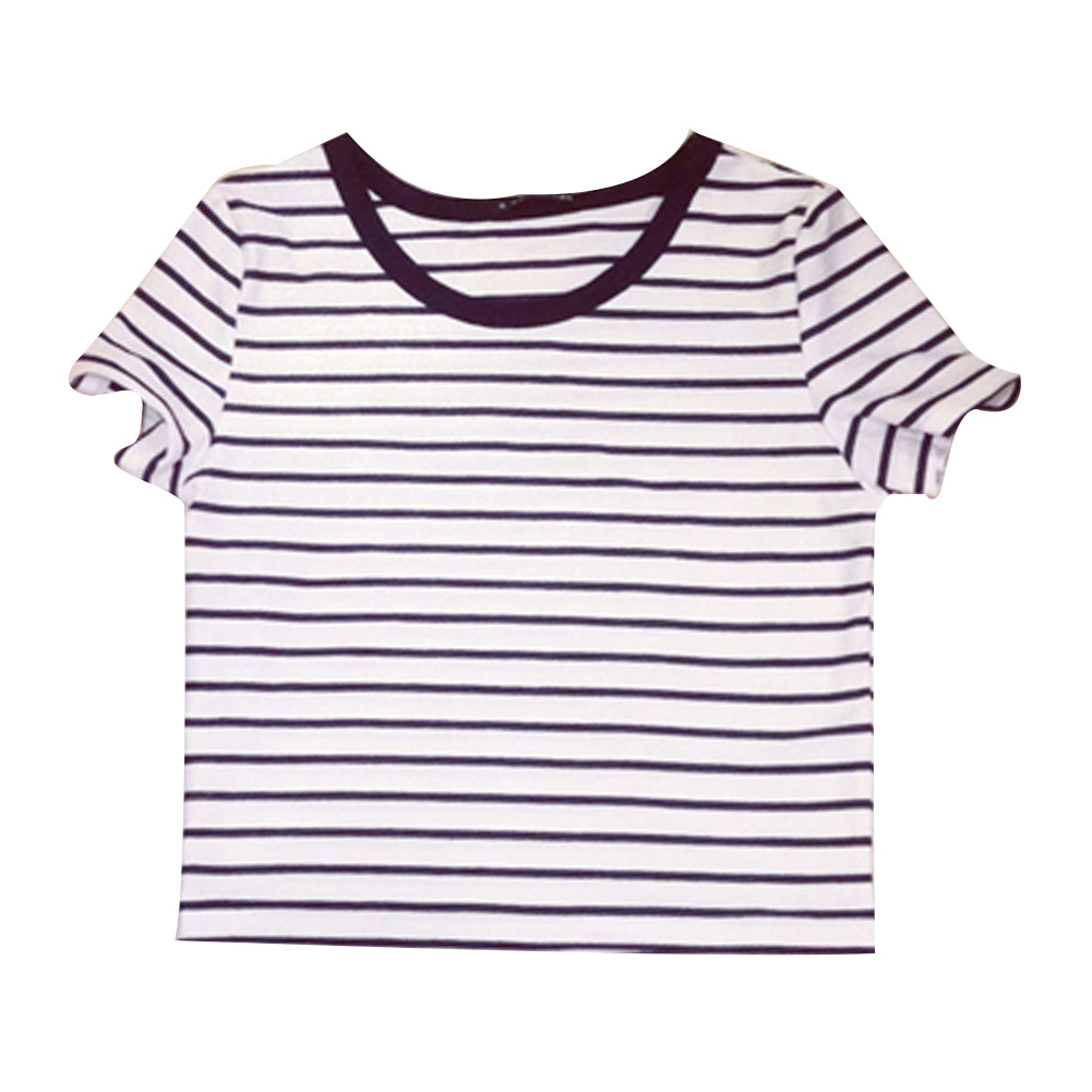 Images Of Black And White Striped T Shirt Women S Reikian