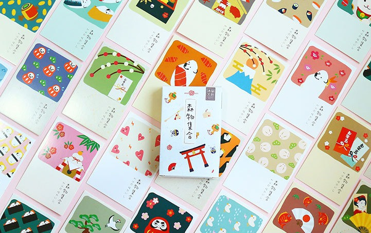 57mm*87mm Forest Food Paper Lomo Cards(1pack=27pieces)