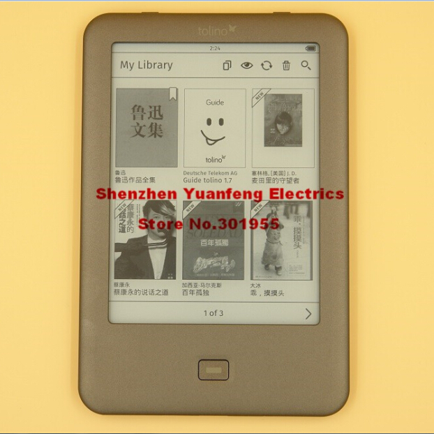 PDF book Reader Tolino Shine built in Light WIFI e-ink 6 inch 1024 x 758 electronic e book Reader