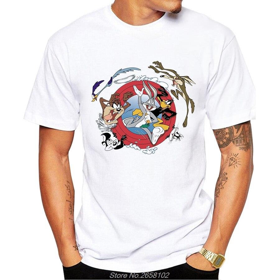 Bugs Bunny Daffy Duck Yosemite Sam T Shirt Short Sleeve Tops Funny Cartoon Tee Harajuku Tshirt Harajuku Streetwear