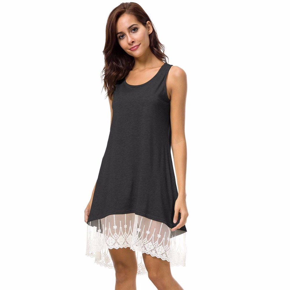 52d2aadee4c4 Fashion Tassel Solid White Mini Lace Dress Summer Dress 2018 Sexy Women  Casual Sleeveless Beach Short Dress Vestidos Plus Size-in Dresses from  Women s ...