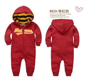 Image 3 - spring Autumn Baby rompers Hooded baby boys clothes Newborn Cotton Clothes streetwear Long Sleeve Infant Boys Girls jumpsuit