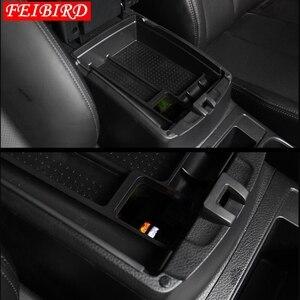 Image 2 - Черная центральная консоль для Nissan X Trail X Trail T32 Rogue 2014 2019, многофункциональный ящик для хранения, лоток для телефона, аксессуар