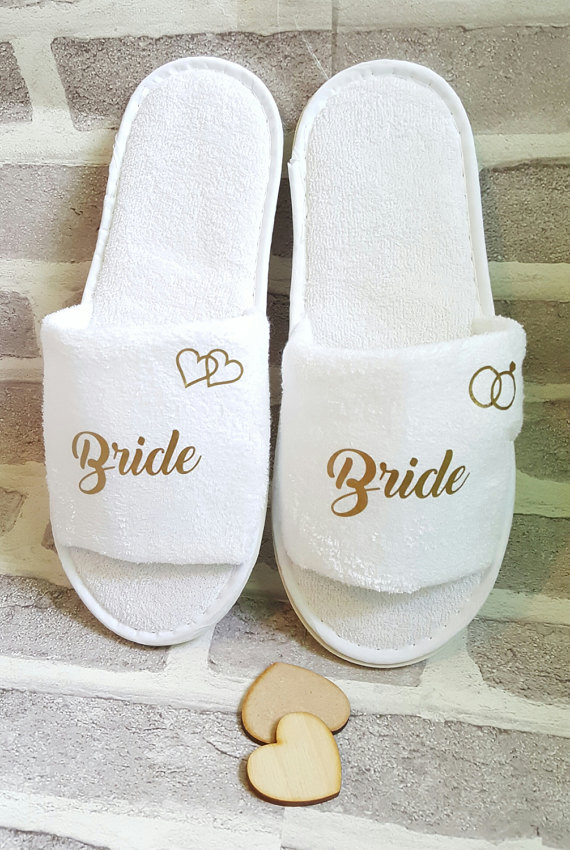 b218a6cfbfc Personalised Wedding Bridesmaid Bridal Party Bride Slippers Hens Night  Bachelorette Spa Slippers favors gifts-in Party DIY Decorations from Home    Garden on ...