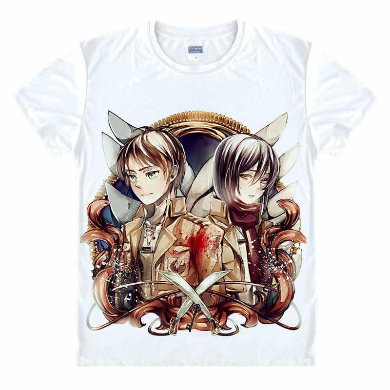 f067cafc13c0 Атака на Титанов рубашка Shingeki нет Kyojin Легион Косплэй крыло футболка  eren Levi s футболка Хэллоуин Аниме