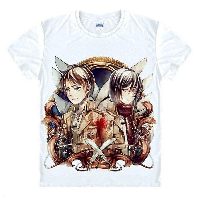 dcc0b4ef8 Ataque em titã camisa Shingeki não Kyojin legião Cosplay asa camiseta homem  Anime traje Eren Levi