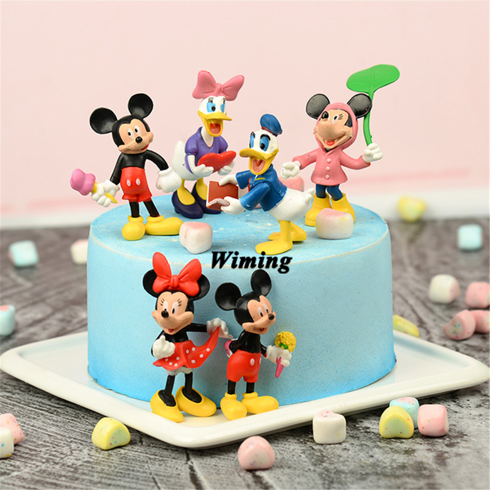 Astonishing Birthday Cake Decoration Cupcake Toppers Mickey Toy Return Ts Personalised Birthday Cards Beptaeletsinfo