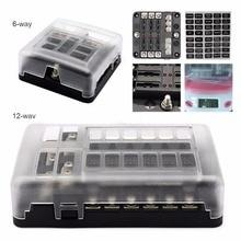 Boîte à fusible avec LED lumières et 100 ampères, DC 12 32V, Double barre de Distribution dénergie pour autocar, camion