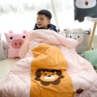 Candice guo plush toy stuffed doll cartoon animal lion dinosaur Husky dog sheep pillow cushion to be quilt blanket baby gift 1pc