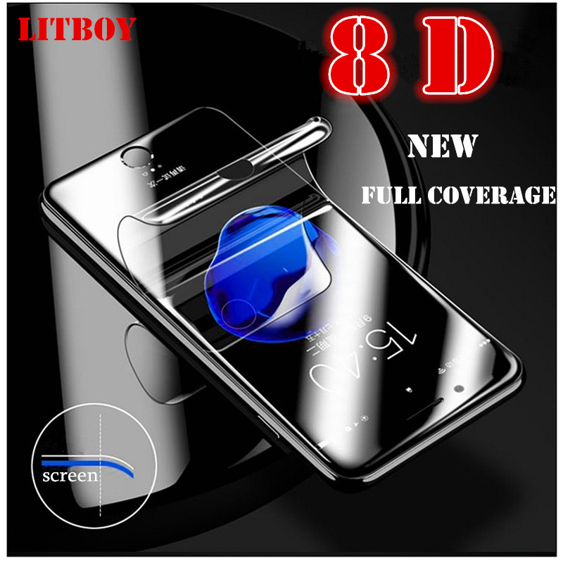 LITBOY New 8D Full Cover Soft Hydrogel Film For iPhone 6 6S 7 8 Plus X Max Screen Protector For iPhone 7 8 5 5s Film Not GlassLITBOY New 8D Full Cover Soft Hydrogel Film For iPhone 6 6S 7 8 Plus X Max Screen Protector For iPhone 7 8 5 5s Film Not Glass