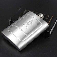 7 oz JOHNNIE WALKER Stainless Steel Hip Flask Russian Whiskey Liquor Flagon send Funnel