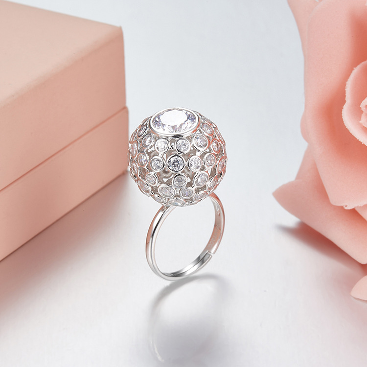 ZOZIRI brand new luxury design 925 sterling silver circle ball rings for elegant women mini round rings summer party jewelry marksojd
