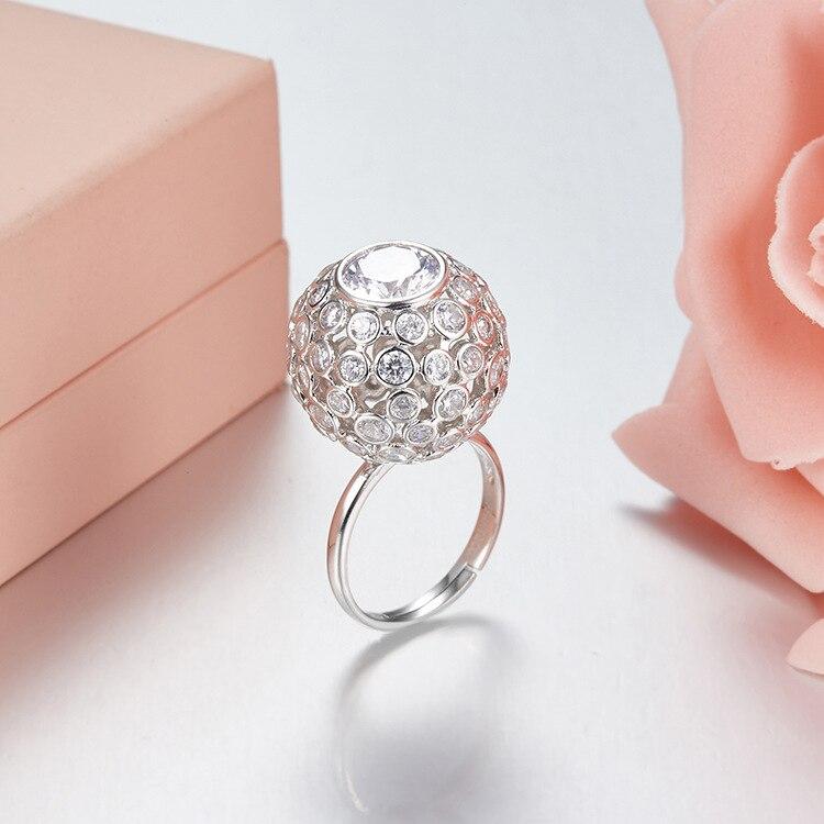ZOZIRI tout nouveau design célèbre 925 anneaux de cercle en argent sterling pour les femmes élégantes mini anneaux ronds bijoux de fête d'été