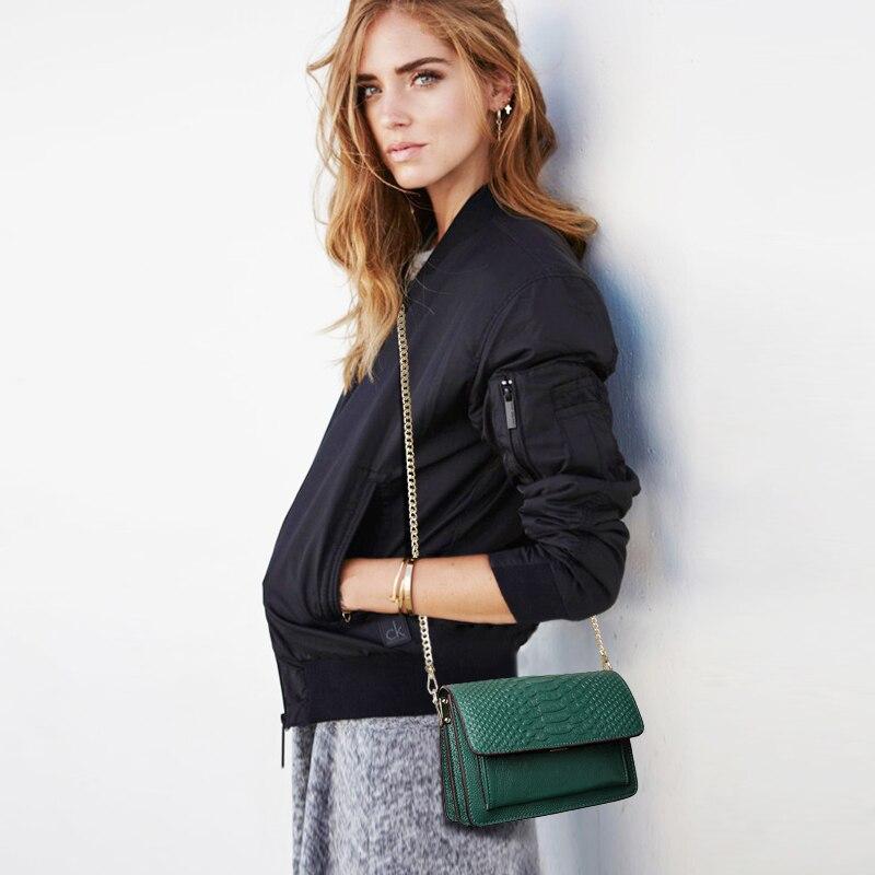 JIANXIU marka torba ze skóry naturalnej krokodyla wzór kobiety Messenger torby mody skóry wołowej kobiet torba na ramię Crossbody w Torebki na ramię od Bagaże i torby na  Grupa 2
