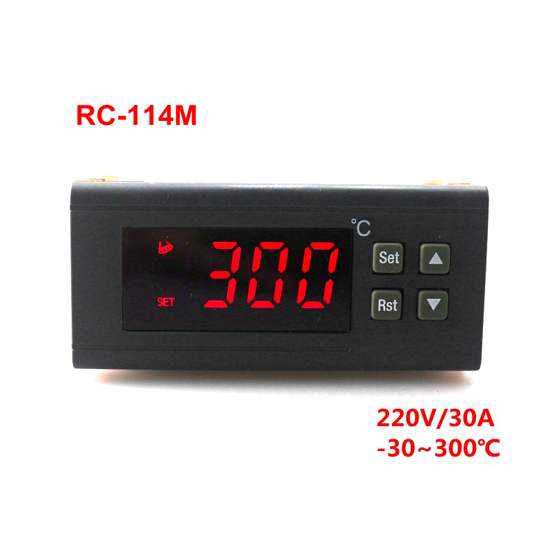 220v/30a-30 regulator 300 regulador do termostato do controlador de temperatura digital celsius com saída do relé do sensor de ntc