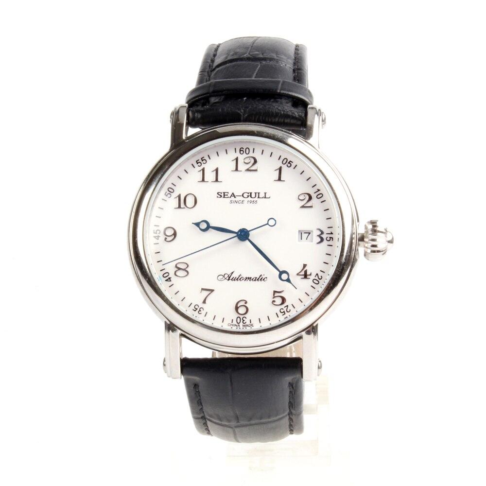 Genuine Seagull Arabic Numerals Onion Crown Sea-gull M186S Blue Hands Automatic Mechanical Men's Watch