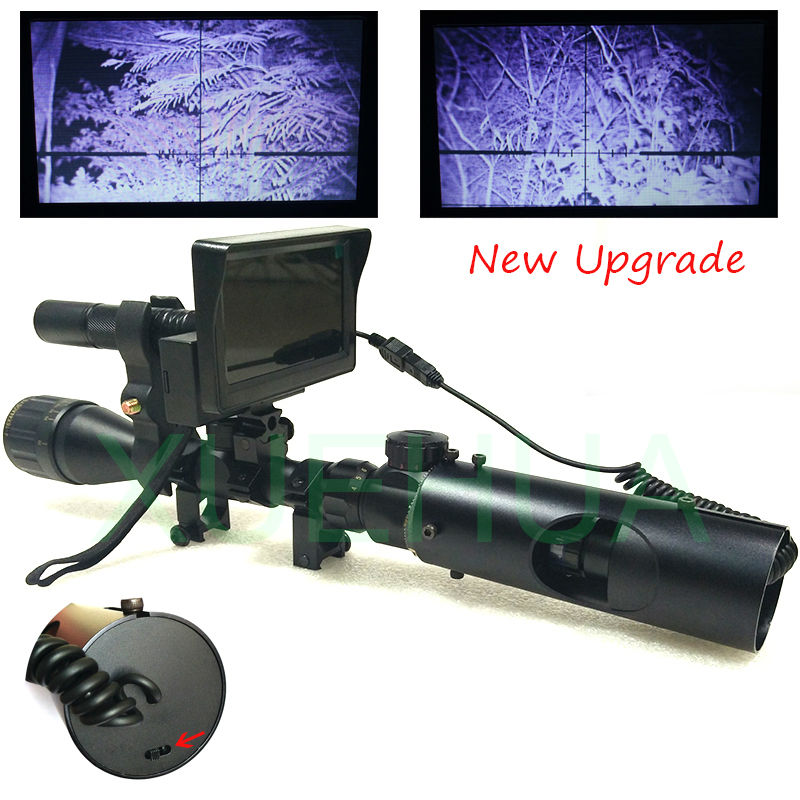 Upgrade Outdoor Hunting Optics Sight Tactical digital Infrared night vision telescope binoculars with LCD use in day and night цена и фото