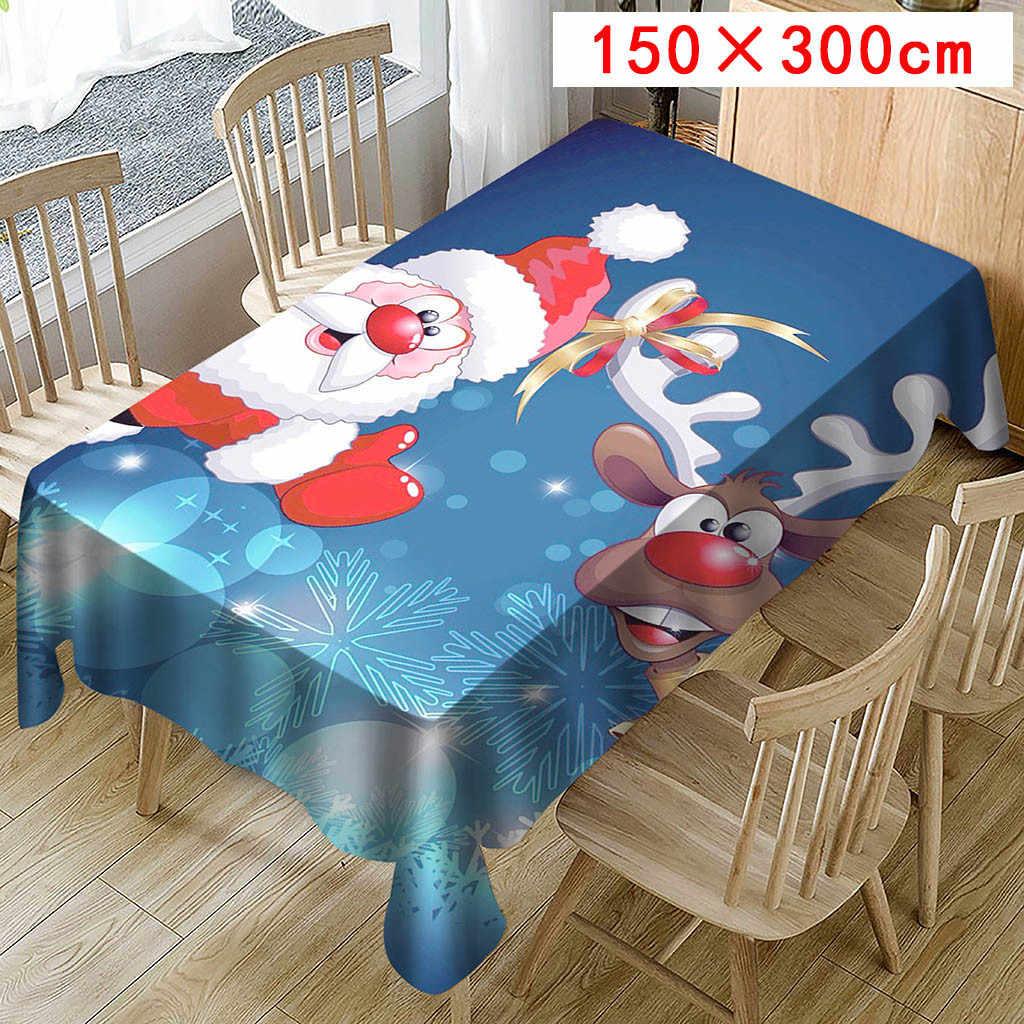 Kerst Tafelkleed Print Rechthoek Tafel Dekken Vakantie masa ortusu Party Home Decor tafelkleed rechthoekig