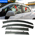 Car Awning Shelter Window Visor For Chevrolet Aveo Hatchback Trax Captiva Sail Hatchback 2010-2016 SUVRain Shield Cover