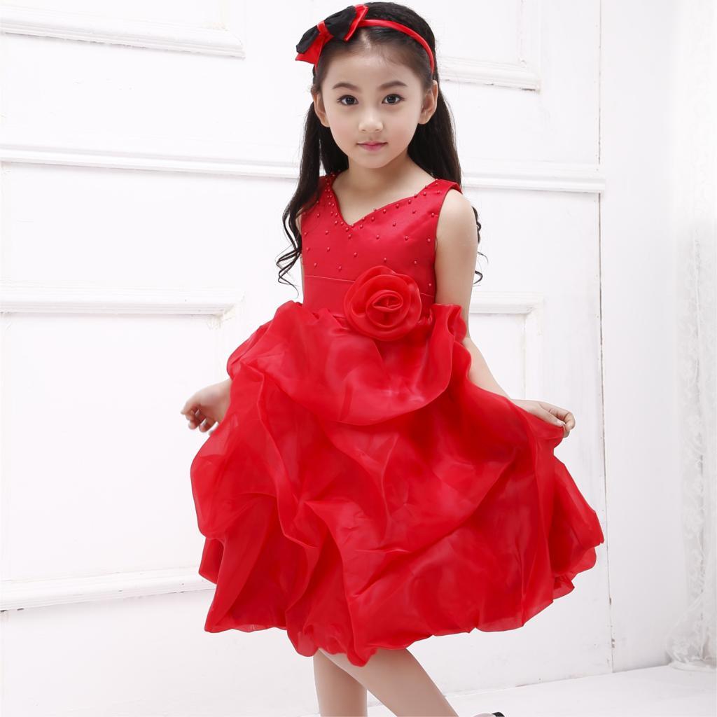 2019 नई राजकुमारी फूल लड़की - बच्चों के कपड़े