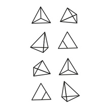 Hot Waterproof Temporary Tattoo Stickers For Adults Kids Body Art Tetrahedrons Geometry G-029 Fake Tatoo For Man Woman