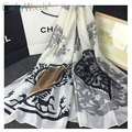 2016 New Summer 100% Real Pure Silk Scarf Women Shawls Classic Design Patterns Brand Scarf Quality Echarpe foulards dames sjaal