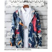Privathinker Men Summer Korean Streetwear Jacket 2019 Mens Sun Protection Clothi