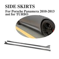 Carbon Fiber Side Bumper Skirts Aprons for Porsche Panamera 2010 2013 Side skirts Extension 2PCS/Set