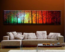 MODERN ABSTRACT Home WALL ART OIL PAINTING ON CANVAS abstract forest painting shipping no framed