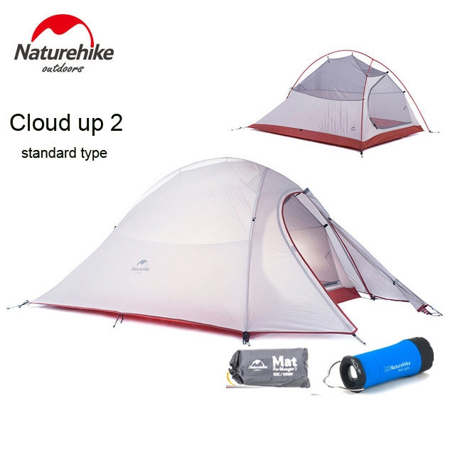 2018 DHL free shipping NatureHike Cloud Up Series 2 Person Tent ultralight 20D Silicone Fabric Tents