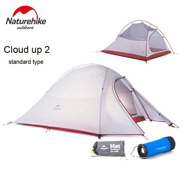 2018 DHL livraison gratuite NatureHike Nuage Up Série 2 Personne Tente ultra-léger 20D Silicone Tissu Tentes Tente de Camping En Plein Air Tente