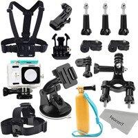Xiaomi Yi Action Camera Accessories Kit Waterproof Housing Case Head Strap Mount Chest Harness Bike Handlebar