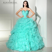 Mint Green Quinceanera Dresses 2019 Vestido 15 Anos Open Back Ball Gown Prom Dress Sweet 16 Pageant Gowns For Girls