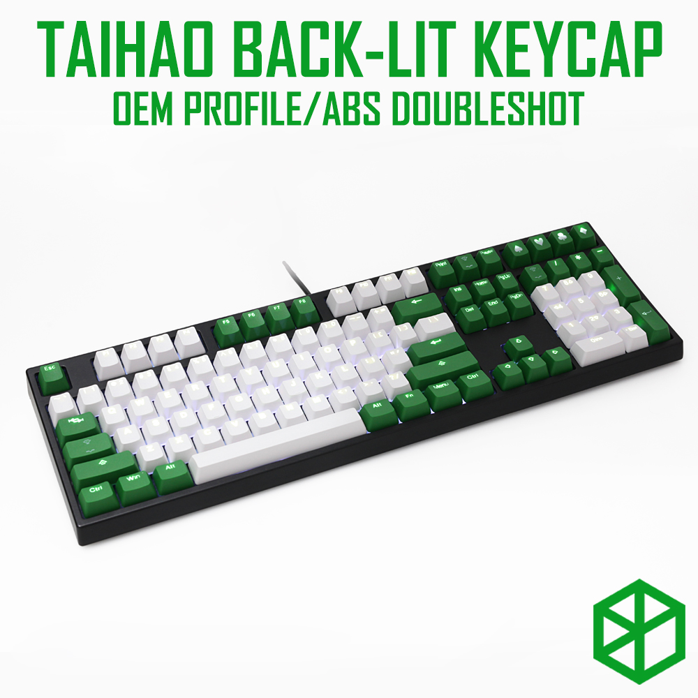 taihao abs double shot keycaps for diy gaming mechanical keyboard Backlit Caps oem profile light through