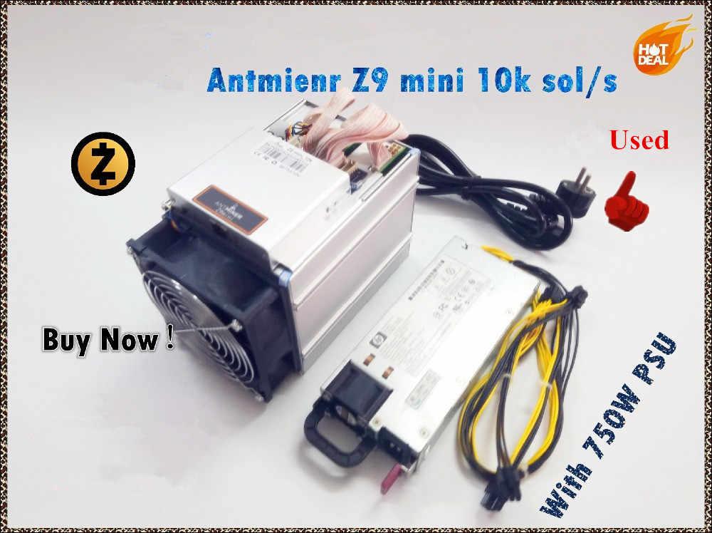 Se Antminer Z9 Mini 10k Sol/s 300W con fuente de alimentación Asic Equihash minero minera ZEN ZEC la moneda puede llegar a 14K