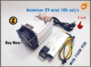 Used Antminer Z9 Mini 10k Sol/s 300W With Power Supply Asic Equihash Miner Mining ZEN ZEC Coin Can Reach To 14K