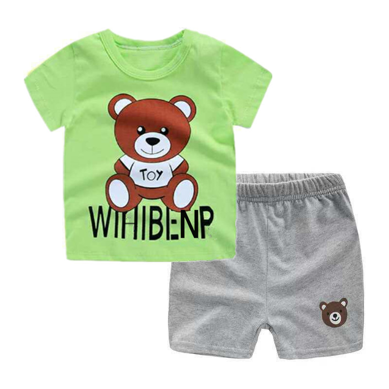 2019 new <font><b>baby</b></font> boys clothes body suit quality 100% cotton children summer cartoon kids clothes <font><b>sets</b></font> <font><b>tshirt</b></font> girls clothes image