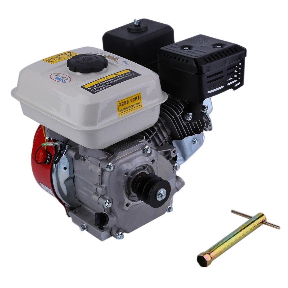 7.5HP Benzina Benzina 168F Recoil Avviamento Avviamento Motore Singolo Cyliner Raffreddato Ad Aria 4 Tempi Motore Accessori 100% nuovo